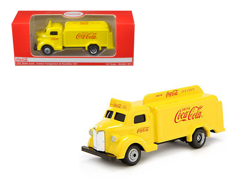 1947 Coca Cola Delivery Bottle Truck Yellow 1/87 Diecas