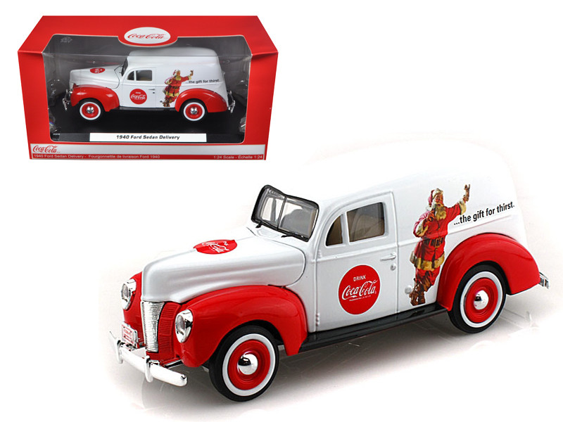 """1940 Ford Sedan Delivery Holiday Panel Van """"Coca Cola The Gift of Thirst"""" 1/24 Diecast Car Model Motorcity Classics MCC439695"""