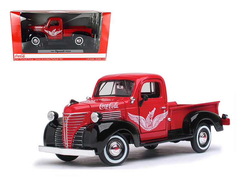 """1941 Plymouth Pickup Truck Red \Coca Cola\"""" 1/24 Diecast Car Model by Motorcity Classics"""""""""""""""