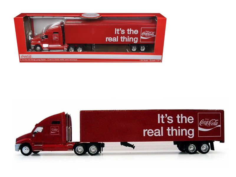 Coca Cola It's The Real Thing Tractor Trailer 1/64 Diecast Model Motorcity Classics MCC436600