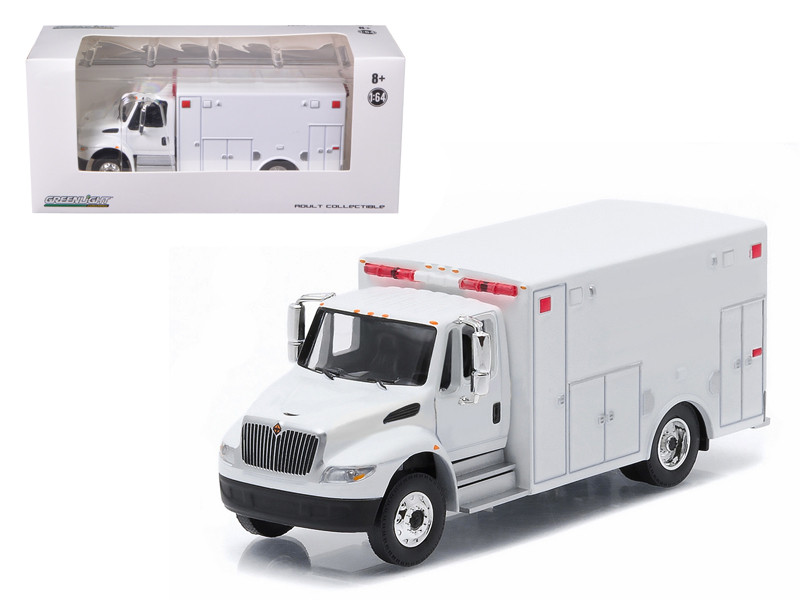 2013 International Durastar Ambulance White Hobby Exclusive 1/64 Diecast Model by Greenlight