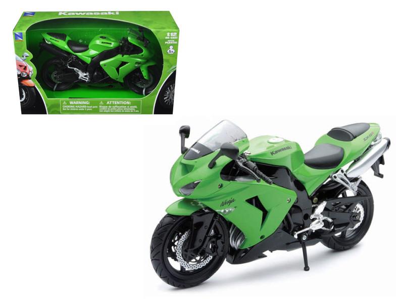 2006 Kawasaki ZX-10R Ninja Green Motorcycle 1/12 Model New Ray NR42447A