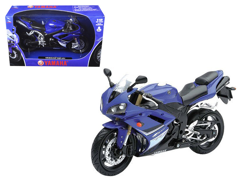 2008 Yamaha YZF-R1 Blue Motorcycle Model 1/12 New Ray NR43103