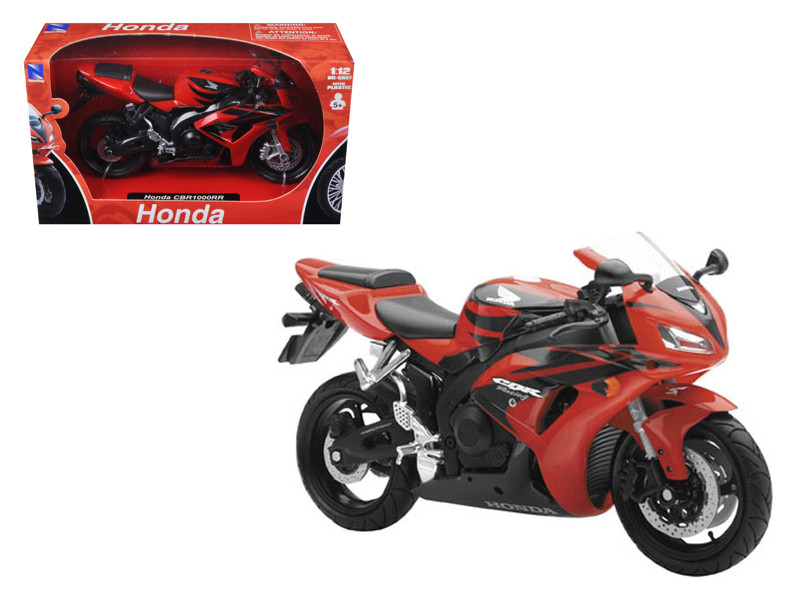 2007 Honda CBR 1000RR Red Bike Motorcycle 1/12 by New Ray
