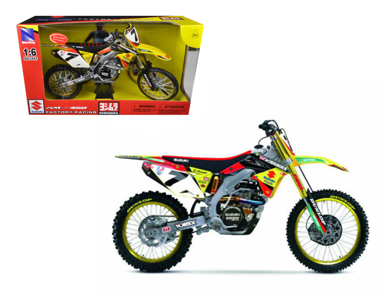 Suzuki Factory Racing RM-Z450 #7 James Stewart Dirt Bike Motorcycle Model 1/6 by New Ray