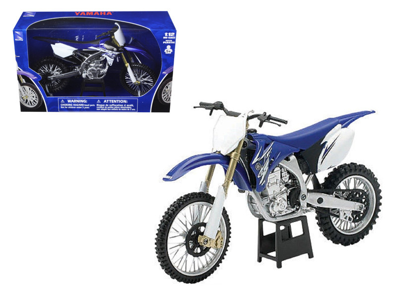 2009 Yamaha YZ450F Dirt Bike Blue Motorcycle 1/12 Model New Ray 57233-57703