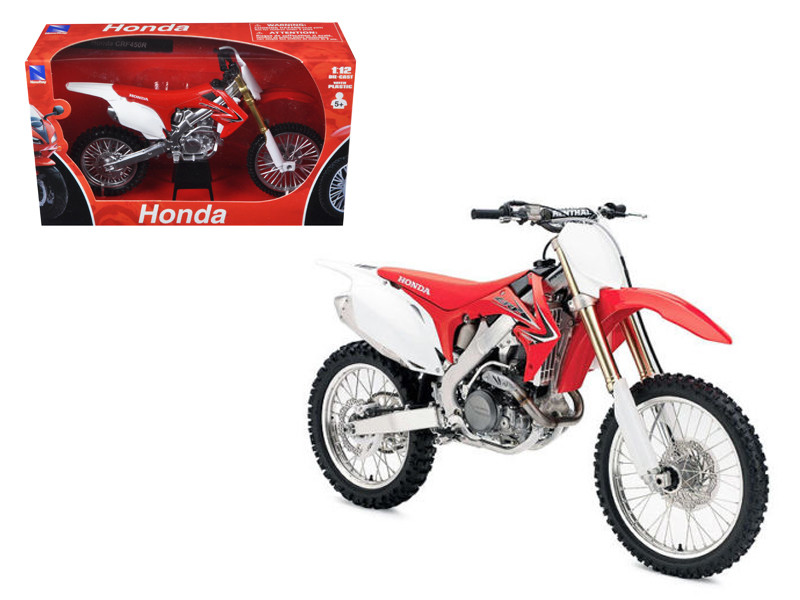 2012 Honda CRF450R Red Motorcycle Model 1/12 Diecast Model New Ray NR57443