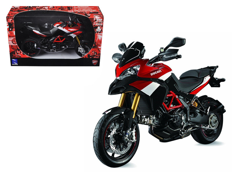 Ducati Multistrada 1200 S Pikes Peak Motorcycle 1/12 Diecast Model New Ray NR57533