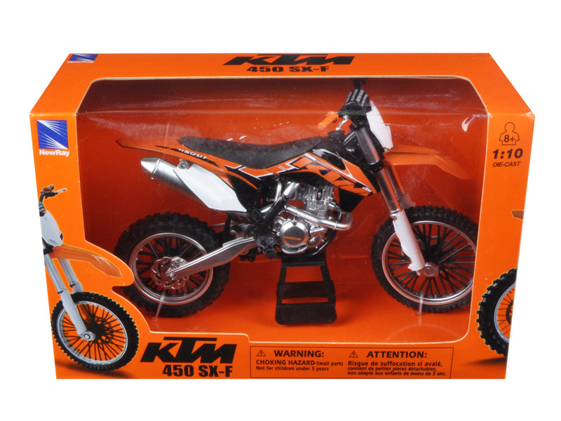 KTM 450 SX-F Diecast Motorcycle Model 1/10 by New Ray