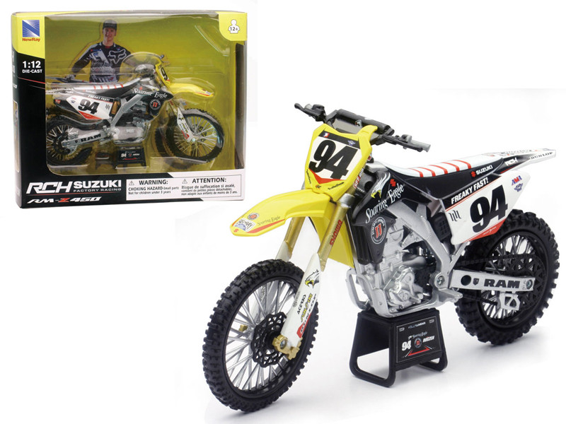 Suzuki RM-Z 450 #94 Ken Roczen Motorcycle Model 1/12 New Ray NR57747