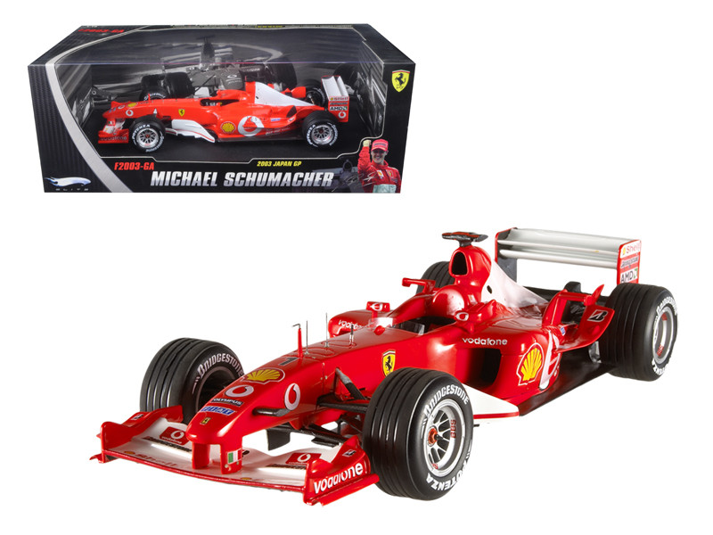 Ferrari F1 Formula 1 Michael Schumacher 2003 Japan Gran Prix #1Elite Edition 1/18 Diecast Car Model Hotwheels N2077