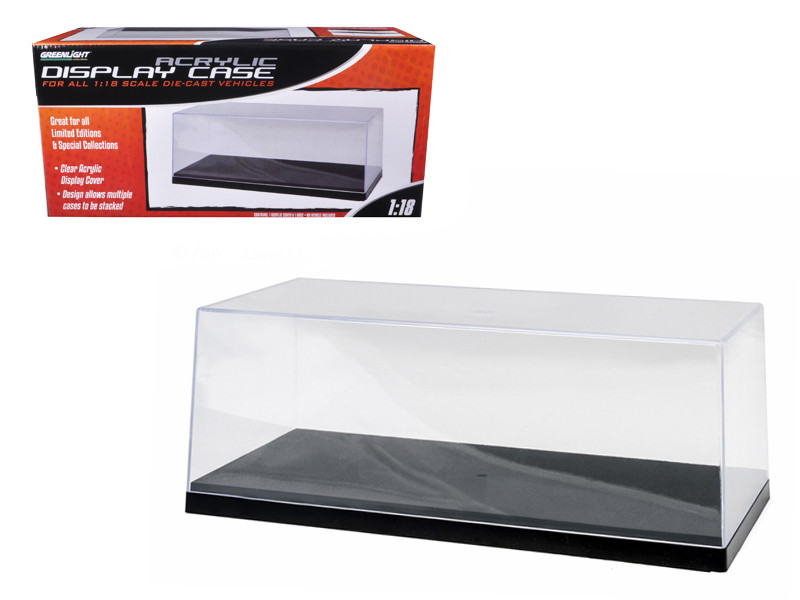 Acrylic Display Show Case with Plastic Base For 1/18 Scale Cars Greenlight 55020