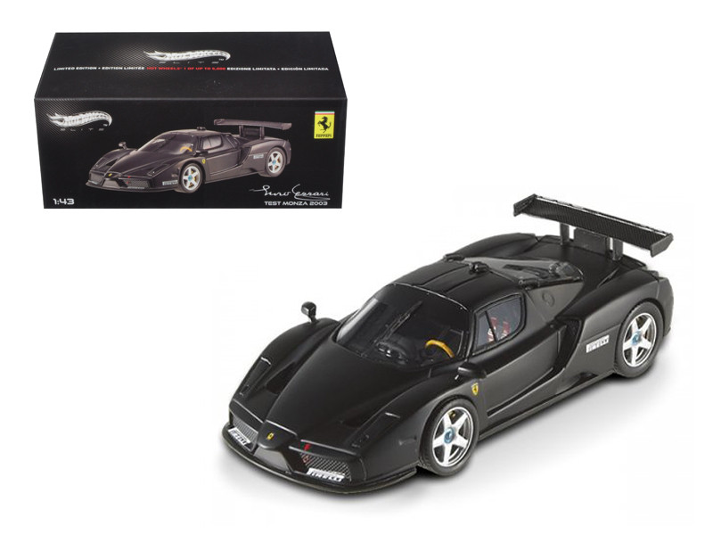 ferrari enzo black and white. ferrari enzo 2003 monza test car matt black elite edition 143 diecast model and white