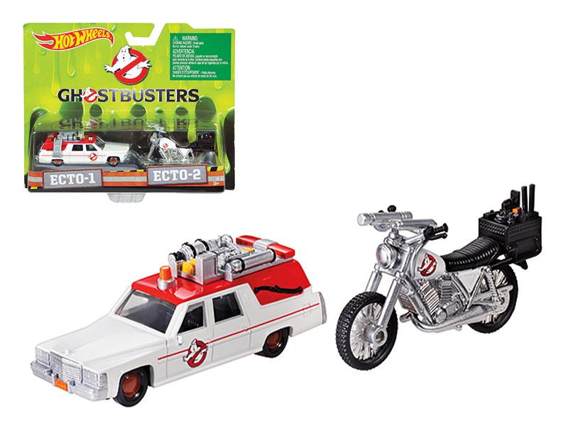 Ghostbusters 3 Movie Cadillac 1/64 & Bike 1/50 Scale Diecast Model Hotwheels DRW73