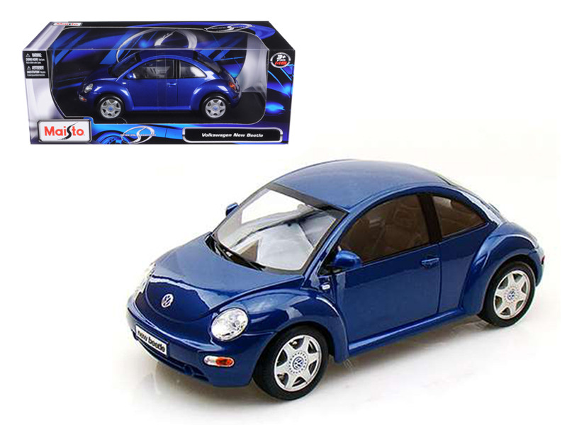 Volkswagen New Beetle Blue 1/18 Diecast Model Car Maisto 31875