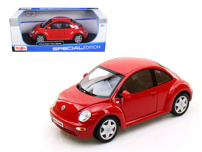 Volkswagen New Beetle Red 1/18 Diecast Model Car Maisto 31875
