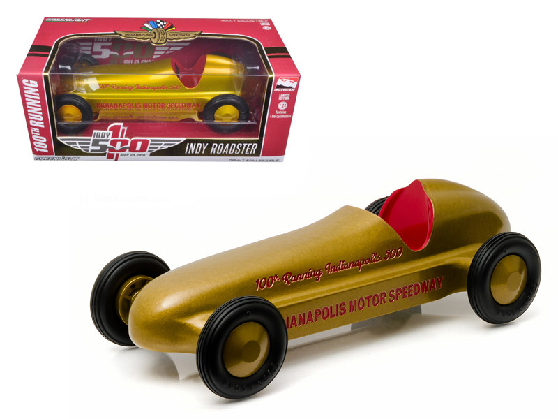 "Vintage Indy Roadster 100th Running of the Indianapolis 500 Special Gold Edition \Hobby Exclusive"" 1/24 Diecast Model Car by Greenlight"""""""