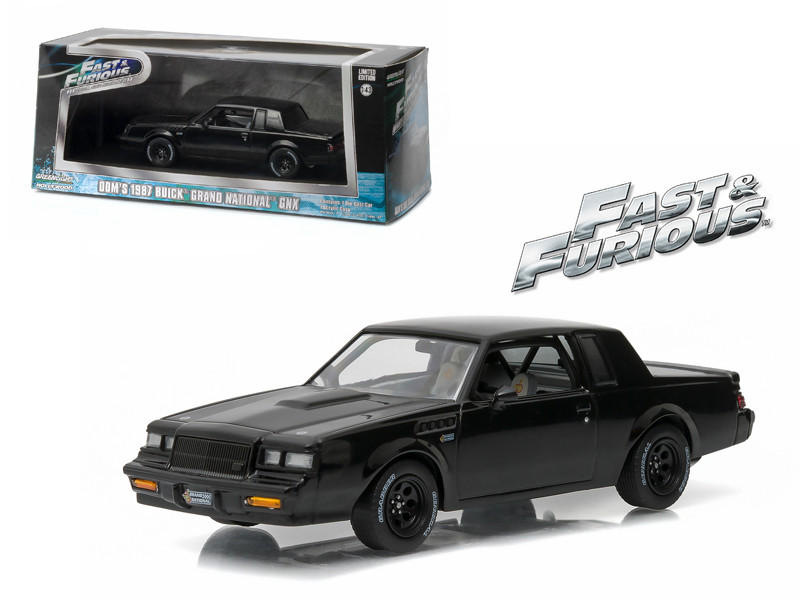 "Dom\'s 1987 Buick Grand National GNX \The Fast and the Furious"" Movie (2009) 1/43 Diecast Model Car by Greenlight"""""""