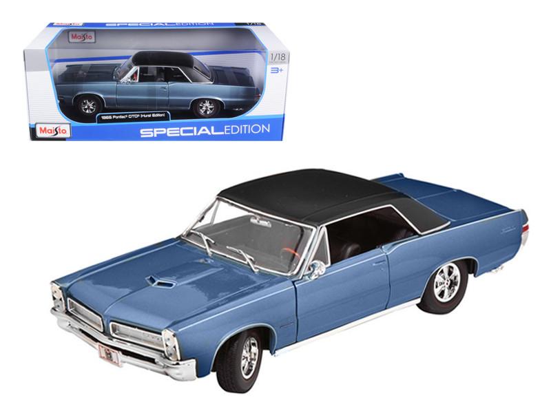 1965 Pontiac GTO Hurst Blue 1/18 Diecast Model Car by Maisto