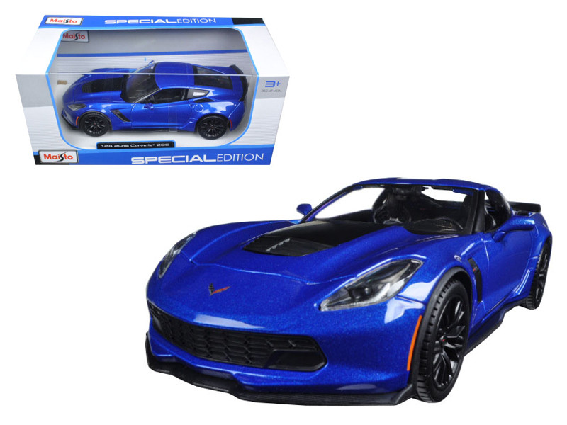 2015 Chevrolet Corvette Stingray C7 Z06 Blue 1/24 Diecast Model Car Maisto 31133