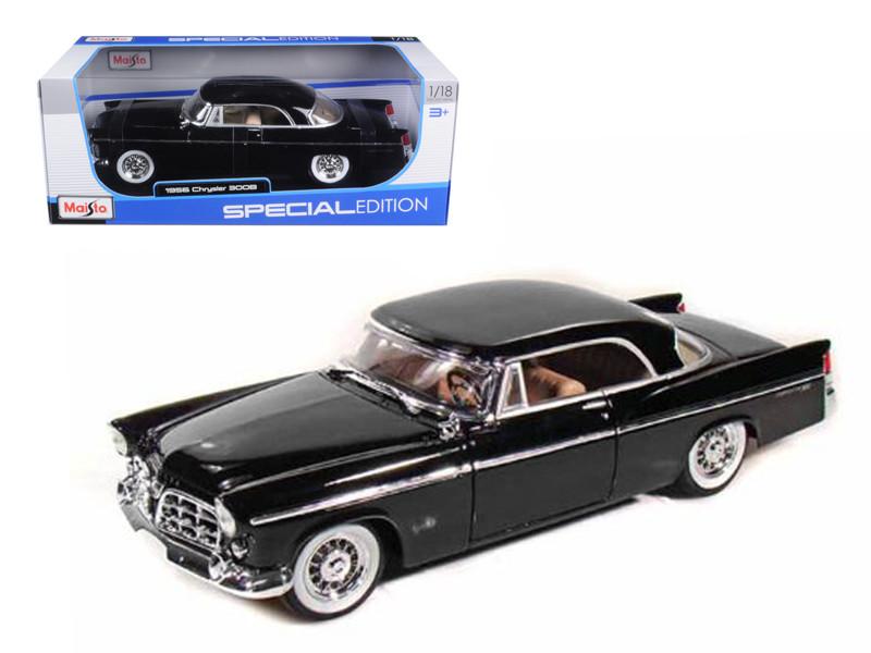 1956 Chrysler 300B Black 1/18 Diecast Model Car Maisto 31897