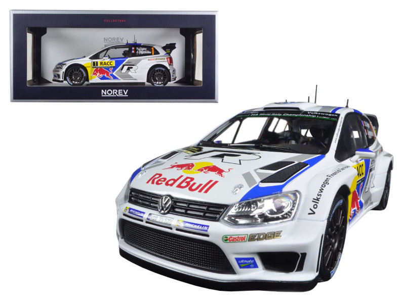 "Volkswagen Polo R WRC #1 \Red Bull"" Rally Spain Winner 2014 Ogier/Ingrassia 1/18 Diecast Model Car by Norev"""""""
