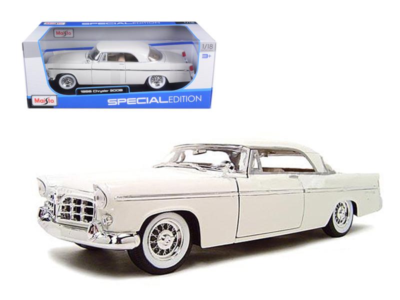 1956 Chrysler 300B Diecast Model White 1/18 Die Cast Ca