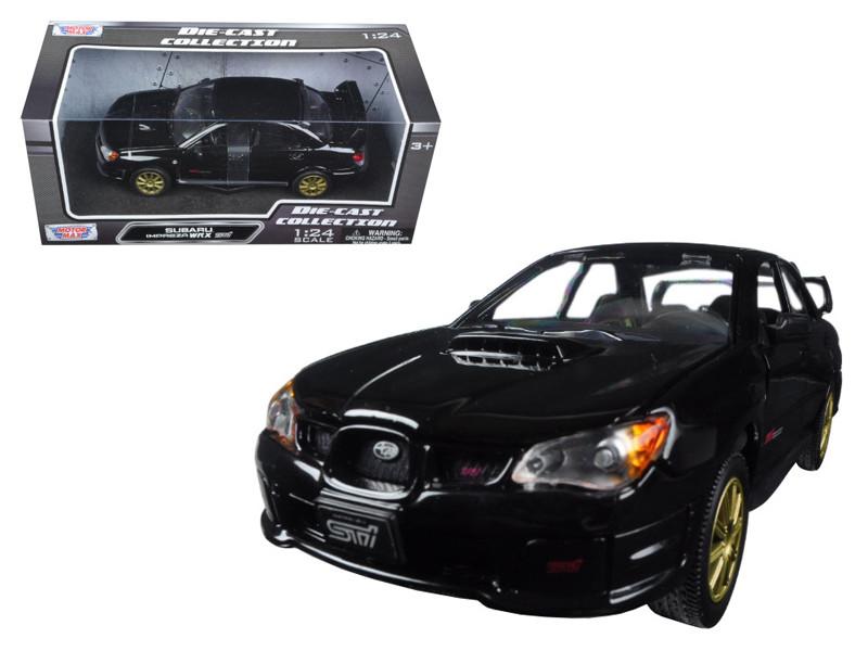Subaru Impreza WRX STi Black 1/24 Diecast Model Car by Motormax