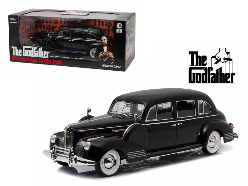 "1941 Packard Super Eight One-Eighty \The Godfather"" (1972) 1/18 Diecast Model Car by Greenlight"""""""