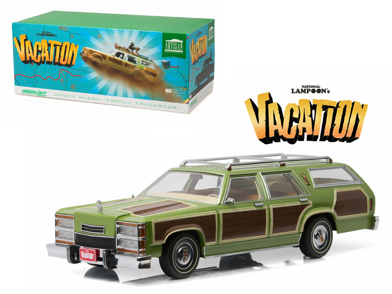 """1979 Family Truckster Wagon Queen \National Lampoon\'s Vacation\"""" (1983) Movie 1/18 Diecast Model Car by Greenlight"""""""""""""""