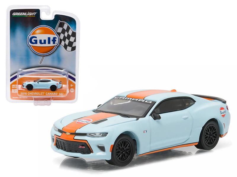 2016 Chevrolet Camaro SS Gulf Oil Hobby Exclusive 1/64 Diecast Model Car Greenlight 51059
