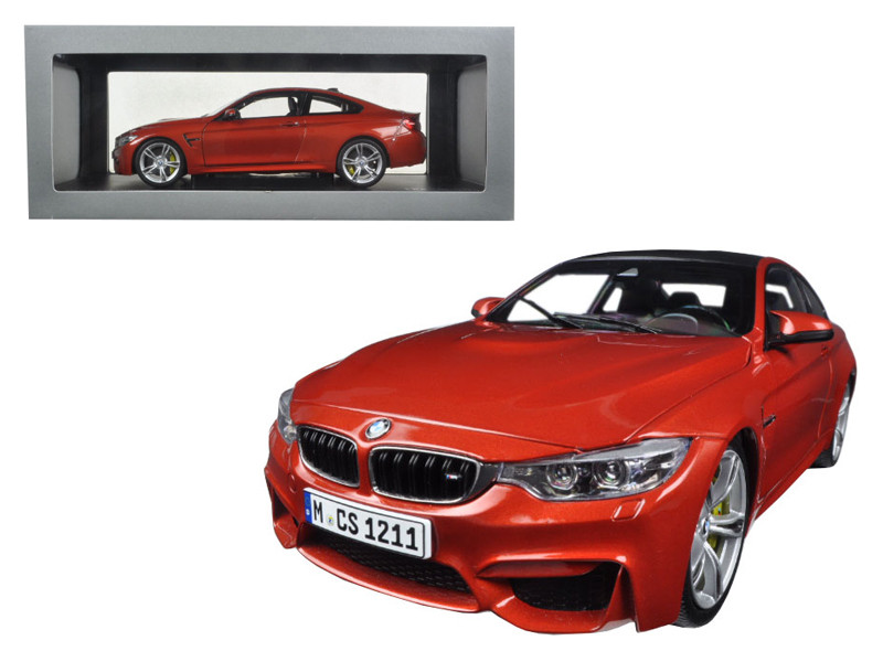 BMW M4 Coupe Orange 1/18 Diecast Model Car by Paragon