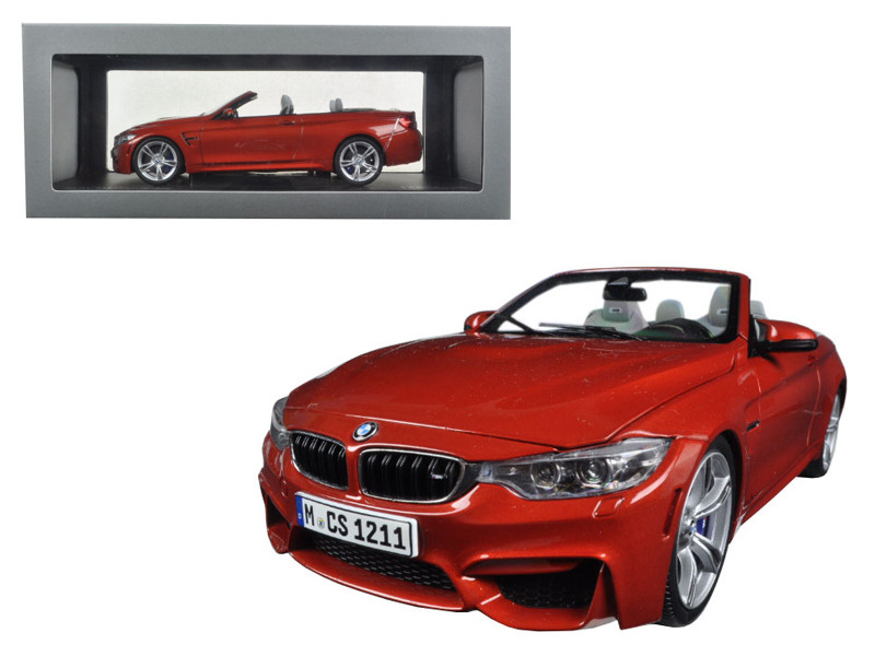 BMW M4 Cabrio Orange 1/18 Diecast Model Car Paragon 97111