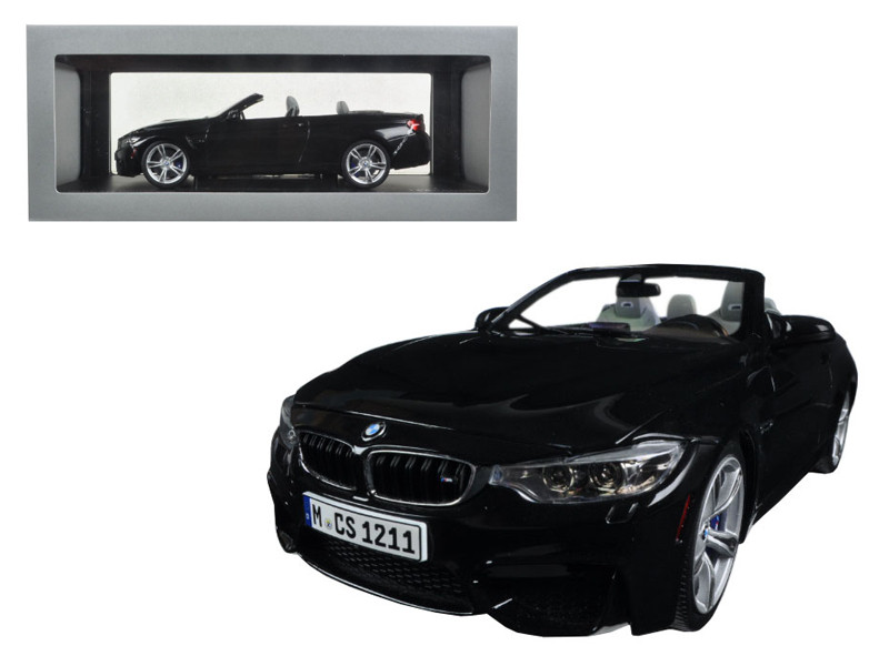 BMW M4 Cabrio Black 1/18 Diecast Model Car Paragon 97112