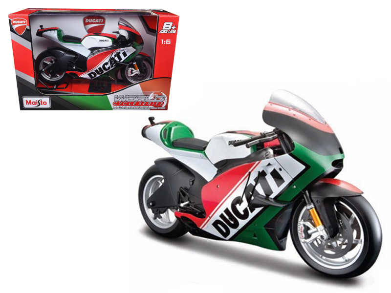Ducati Italy Motor World Cycle Series Motorcycle Model 1/6 Maisto 32226 IT