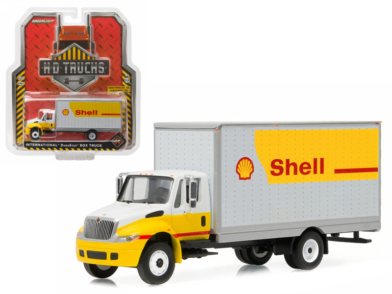 "2013 International Durastar 4400 ""Shell"" Box Delivery Truck HD Trucks Series 6 1/64 Diecast Model Car Greenlight 33060 B"