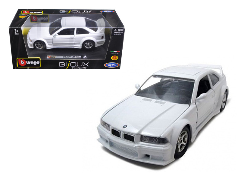 BMW M3 White 1/24 Diecast Model Car BBurago 22036