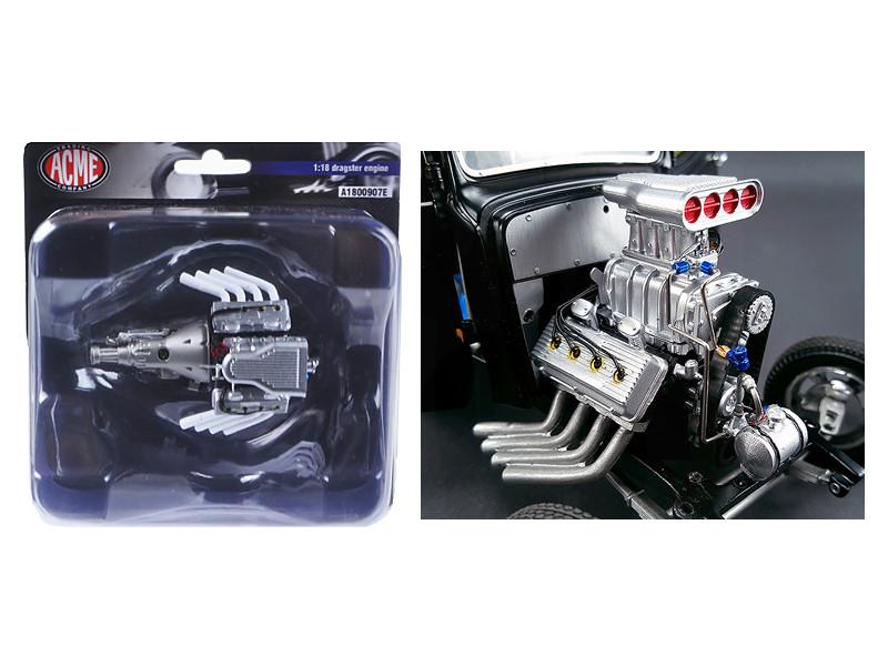 1933 Pork Chop's Gasser Blown Hemi Engine Model 1/18 Acme A1800907 E