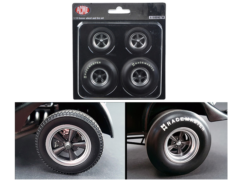 1933 Pork Chop's Gasser Wheels and Tires Set of 4 1/18 Acme A1800907 W