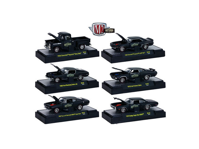 Bootleggers 6 Piece Set Release BL02 IN DISPLAY CASES 1/64 Diecast Model Cars M2 Machines 32600-BL02
