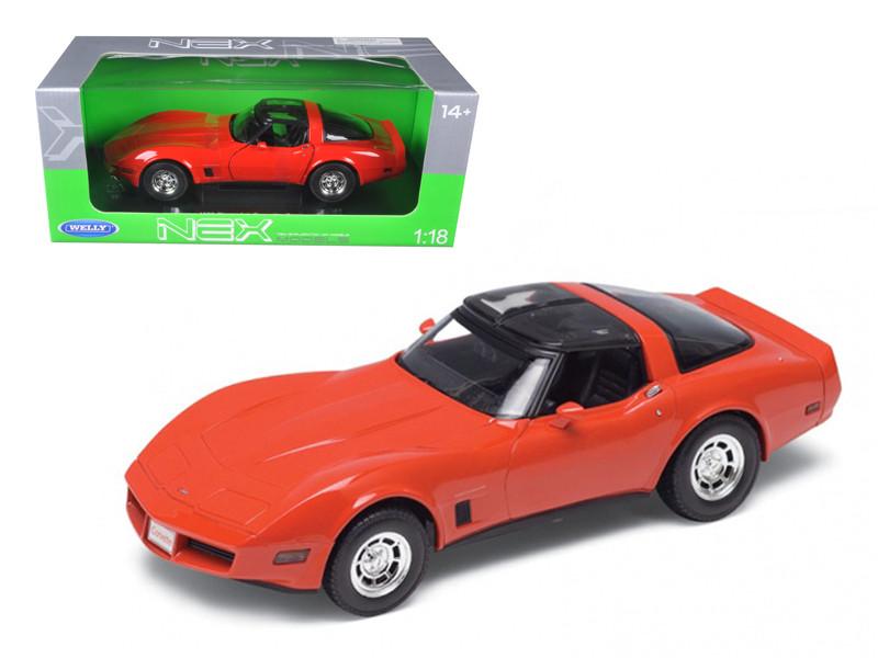 1982 Chevrolet Corvette Red 1/18 Diecast Car Model Welly 12546