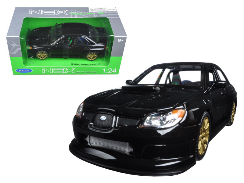 Subaru Impreza WRX STI Black 1/24 Diecast Model Car by Welly