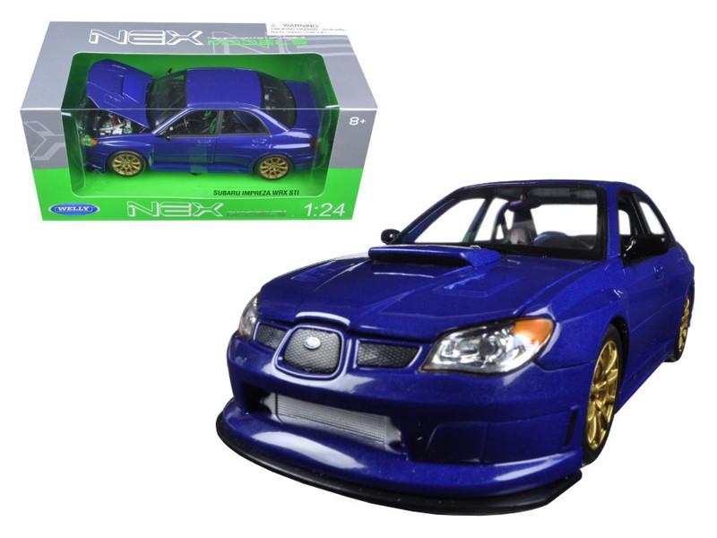 Subaru Impreza WRX STI Blue 1/24 Diecast Model Car by Welly