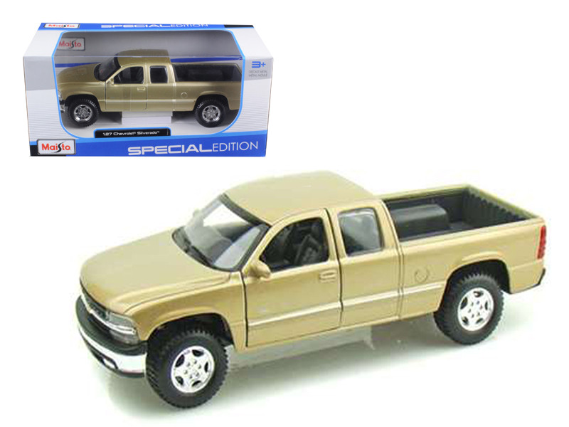 Chevrolet Silverado Pickup Truck Gold 1/27 Diecast Model Maisto 31941