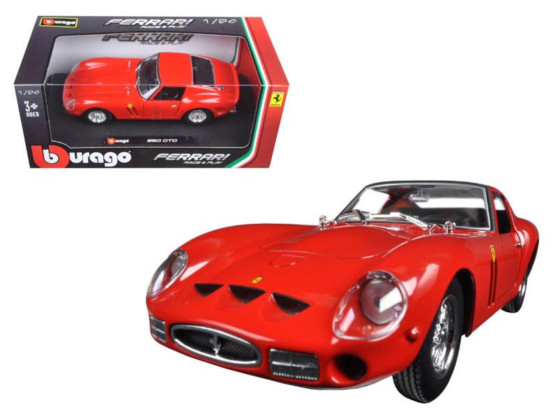 Ferrari 250 GTO Red 1/24 Diecast Model Car by Bburago