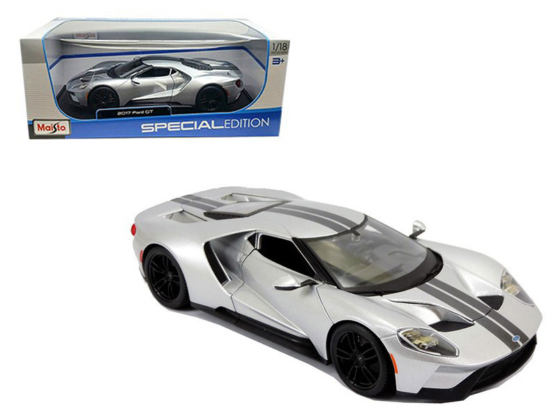 2017 Ford GT Silver 1/18 Diecast Model Car Maisto 31384