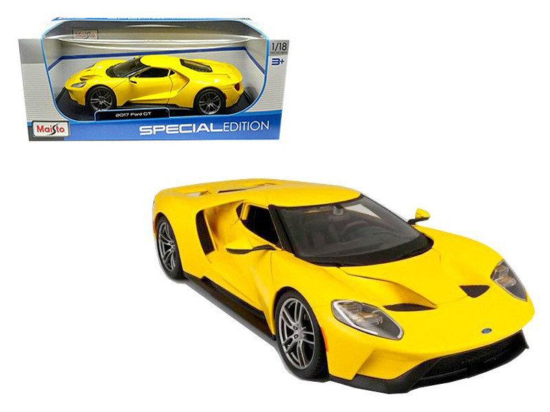 Ford Gt Yellow  Cast Model Car Maisto