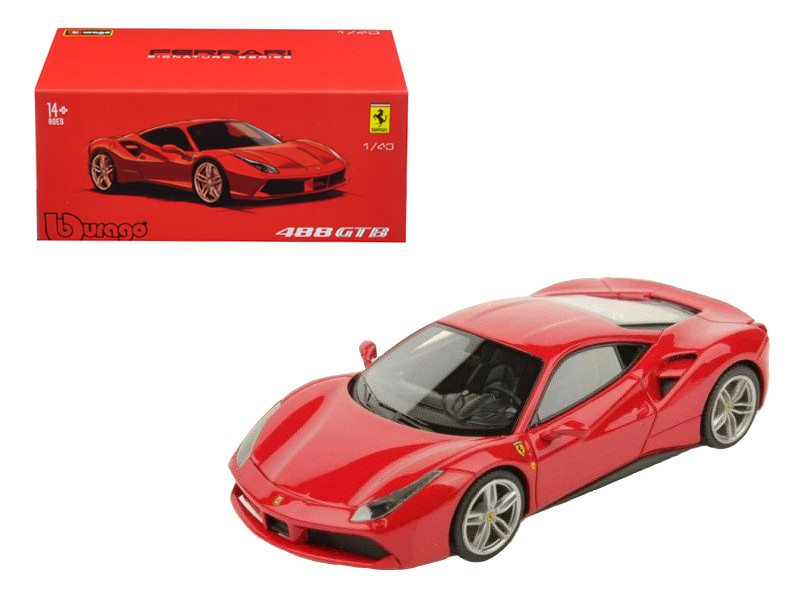 Ferrari 488 GTB Red Signature Series 1/43 Diecast Model Car Bburago 36904