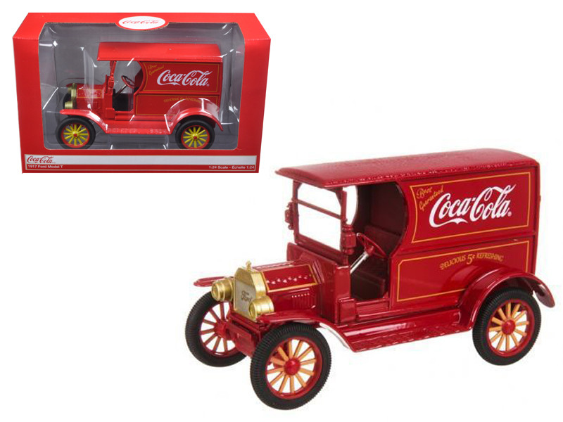 """1917 Ford Model T \Coca Cola\"""" Delivery Truck Red 1/24 Diecast Car Model by Motorcity Classics"""""""""""""""