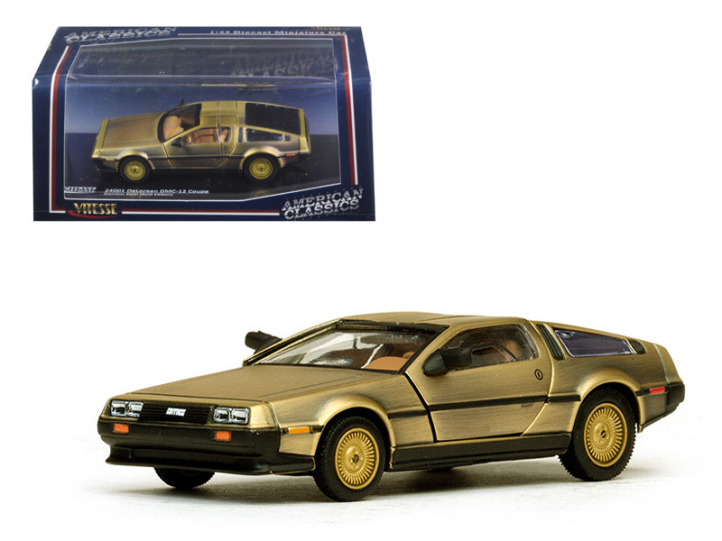 De Lorean DMC 12 Coupe Gold 1/43 Diecast Model Car by Vitesse